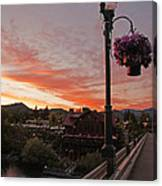 Evening Color Over Taprock Canvas Print