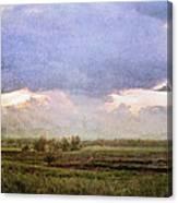 Evening Field Canvas Print