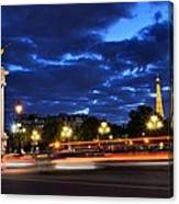 Evening Light At The Eiffel Tower Canvas Print