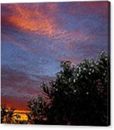 Evening Sky In Palm Desert California Canvas Print