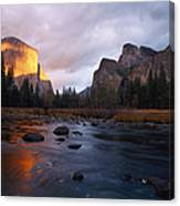 Evening Sun Lights Up El Capitan Canvas Print