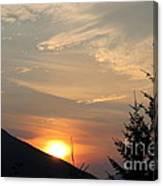Evening Sunset Canvas Print
