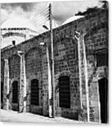 Evkaf Dairesi Bekir Pasa Su Idaresi Larnaka Iyhf Building In The Old Town Of Larnaca Republic Cyprus Canvas Print
