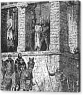 Execution Of Heretics Canvas Print