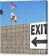 Exit Canvas Print