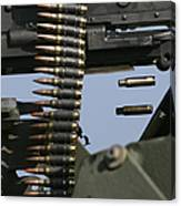 Expended Brass Falls From A Machine Gun Canvas Print