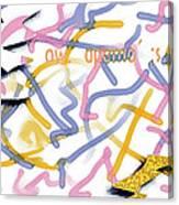 Experimental Expectations - Pink Canvas Print
