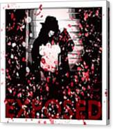 Exposed In Red Canvas Print