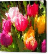Expressionistic Spring Tulip Explosion Canvas Print
