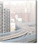 Expressway Through City Canvas Print