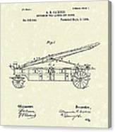 Extension Fire Ladder 1895 Patent Art Canvas Print