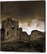 Exterior Of The Ruins Of Denhigh Castle Canvas Print