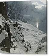 Extreme Skier Jean Franck Charlet Canvas Print