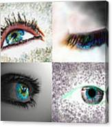 Eye Art Collage Canvas Print