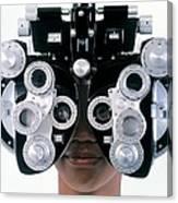 Eye Examination Canvas Print