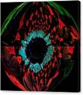 Eye Of A Peacock... Canvas Print