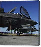 F-35b Lightning II Variants Are Secured Canvas Print