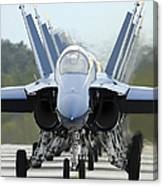 Fa-18a Hornets Assigned To The Blue Canvas Print