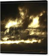 Face In Sky Canvas Print