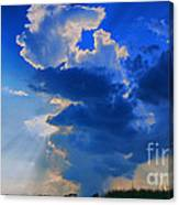 Face In The Cloud Canvas Print