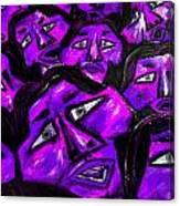 Faces - Purple Canvas Print