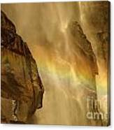 Faces In The Falls Canvas Print