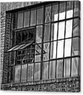 Factory Air In New Orleans In Black And White Canvas Print
