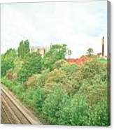 Factory And Trainlines Canvas Print