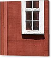 Faded Red Wood Farm Barn Canvas Print