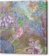 Fairies By The Pool Canvas Print