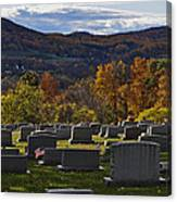 Fairview Cemetery In Autumn Canvas Print