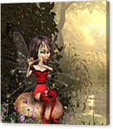 Forest Fairy Playing The Flute Canvas Print