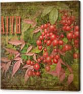 Faith Spring Berries Canvas Print
