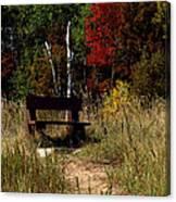 Fall Bench Dreams Canvas Print