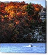 Fall Boating At Starved Rock Canvas Print