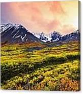 Fall Colours And Auriol Range Canvas Print