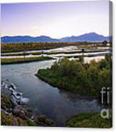 Fall Creek Panorama Canvas Print