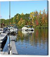 Fall Fishing Break Canvas Print