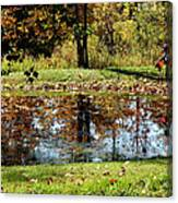 Fall Frogging Got One Canvas Print