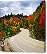 Fall Highway Canvas Print