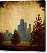 Fall In The City Canvas Print