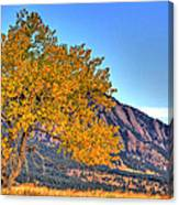 Fall In The Flatirons Canvas Print