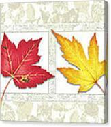 Fall Leaf Panel Canvas Print