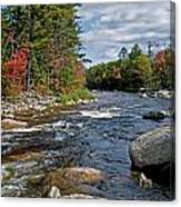 Fall On Swift River Canvas Print