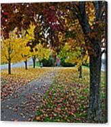 Fall Park Canvas Print