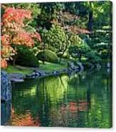 Fall Reflections Japanese Gardens Canvas Print