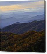 Fall Sunset On The Blue Ridge Canvas Print