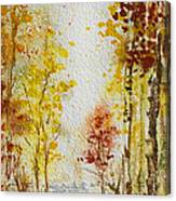 Fall Tree In Autumn Forest  Canvas Print