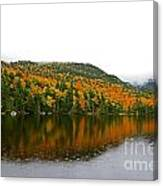 Fall View Of Saco Lake And Elephants Head Canvas Print
