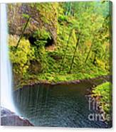 Falling Off The Cliff Canvas Print